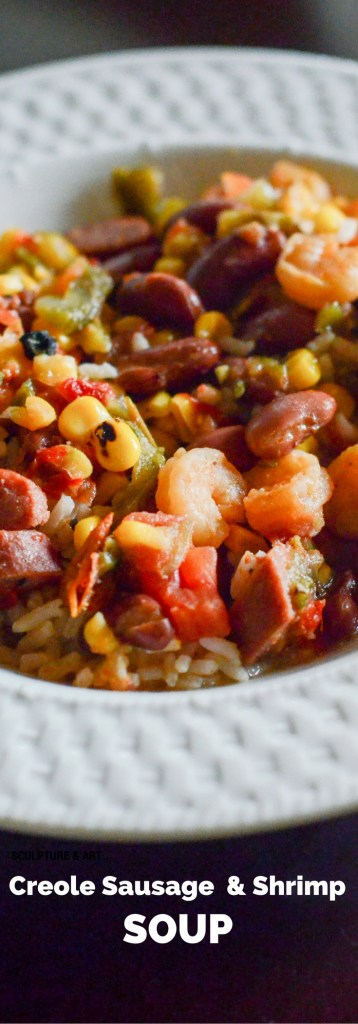 Creole Sausage and Shrimp Soup - The Gifted Gabber