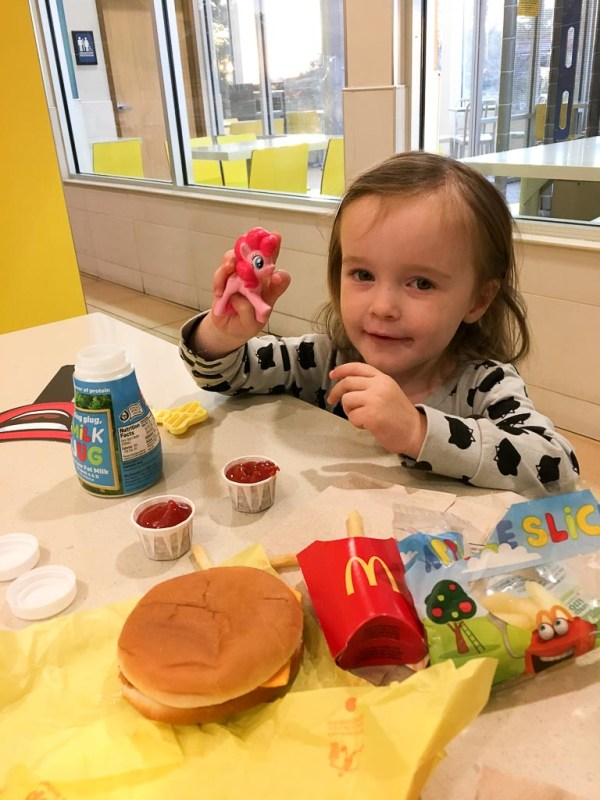 little girl at McDonald's