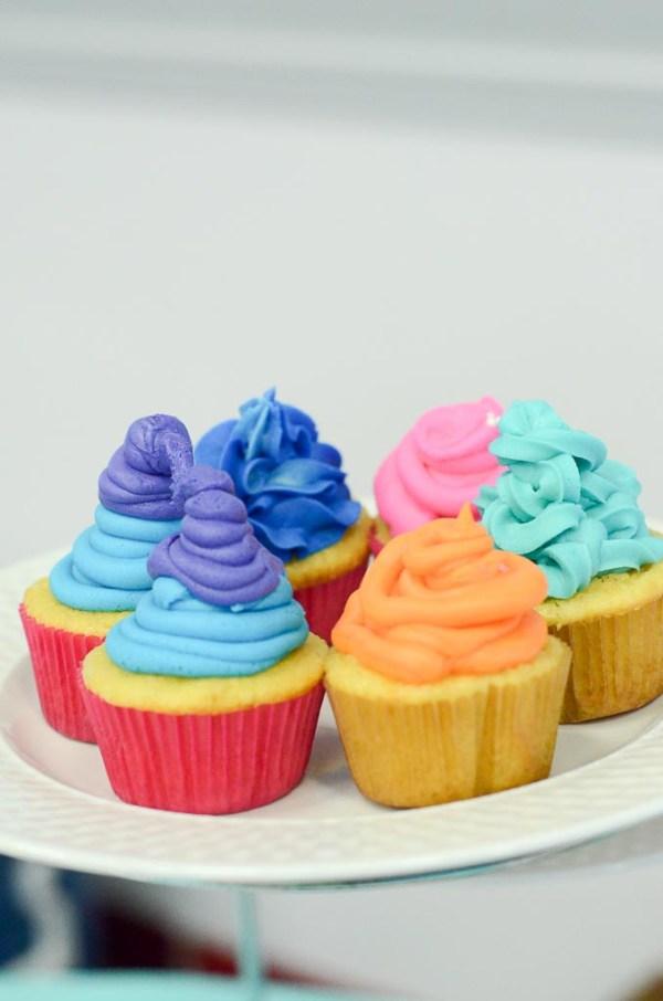 Trolls Birthday Party Cupcakes