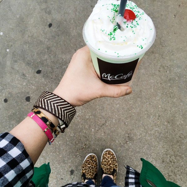 McDonald's Shamrock Shake in Lady's Hand - A Look Back at My Time as McDambassador - The Gifted Gabber