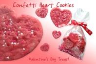 Confetti Heart Cookies