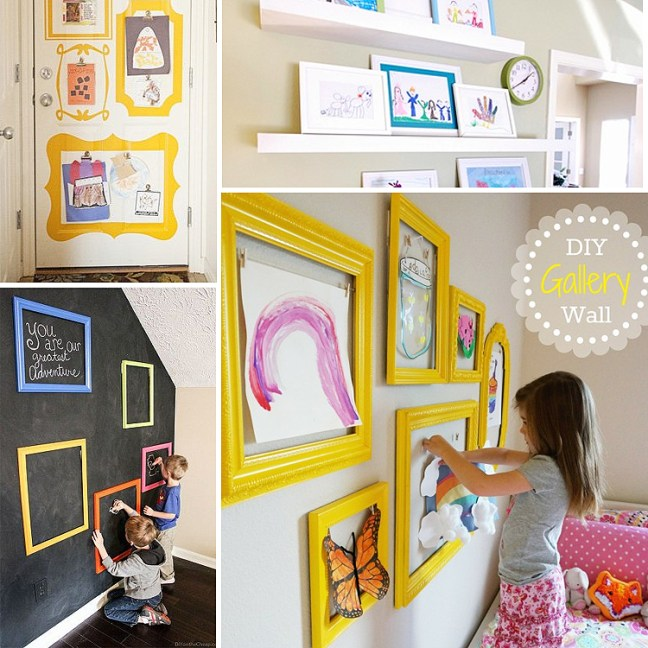 DIY_gallery_wall_children_artwork_display
