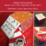 FREE Printable: Make Your Own Mystery Socks Box! Perfect Last Minute Holiday Gift!