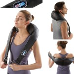Take a Break with Brookstone's Cordless Shiatsu Neck & Back Massager with Heat…