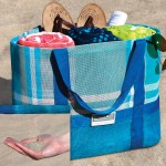 Keep the Sand at the Beach with the Sandless Beach Tote!