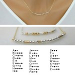 Keep a Memory or Future Goal Just for You with a Custom Morse Code Necklace by LA Mini Jewelry