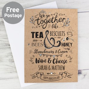 Personalised We Go Together Like... Card