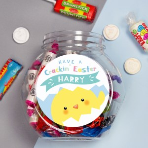 Personalised Have A Cracking Easter Sweets Jar