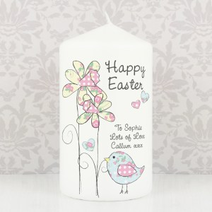 Personalised Daffodil Chick Easter Candle
