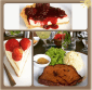 Pork meat loaf and Philadelphia Cheesecake @ Cafe Max, Indiranagar, Bangalore