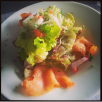 Fresh Salmon salad @ Cafe Noir, UB City