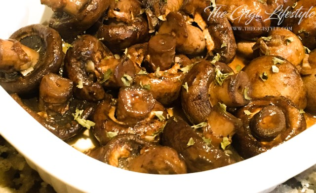 Honey Balsamic Mushroom dish