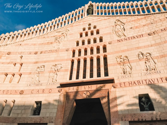 The entrance of the Basilica of the Annunciation in Nazareth