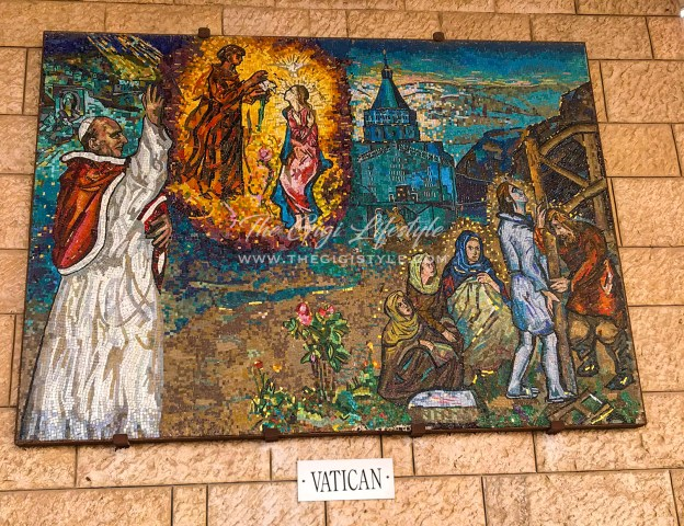 The mosaic from the Vatican