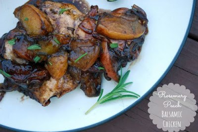 Rosemary Peach Balsamic Chicken (The Gingered Whisk)