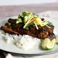 Slow Cooker Thai Turmeric Pork Ribs with Pineapple Slaw