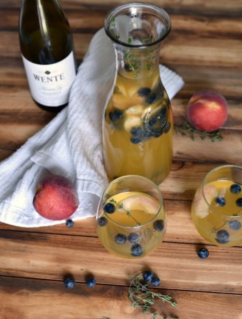 Summer Sangria with Peach and Blueberry