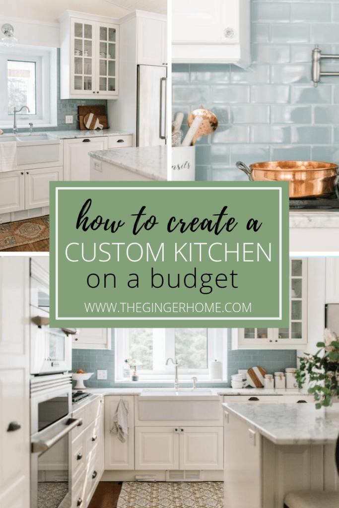Design a custom kitchen on a budget
