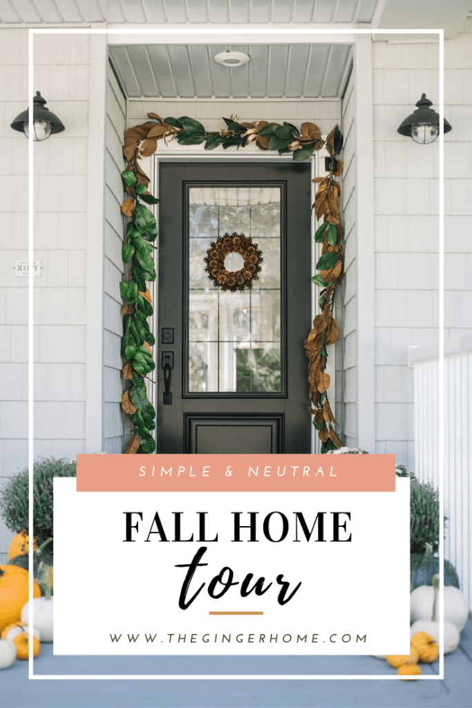 Fall Home Tour - Simple Fall front porch and interior decor.
