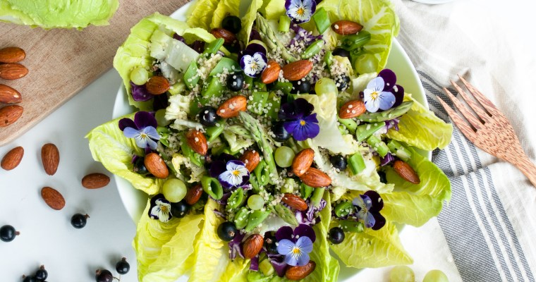 Romaine Salad with Activated Almonds