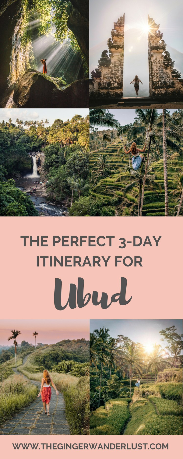 Top Things to do in Ubud, 3 day itinerary with all my top tips. Unmissable locations and instagrammable spots to visit in Ubud, Bali.