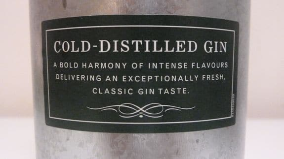Oxley is Cold Distilled (label)