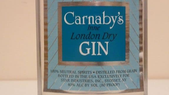 Carnaby's London Dry Label