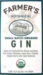 Farmer's Gin Label