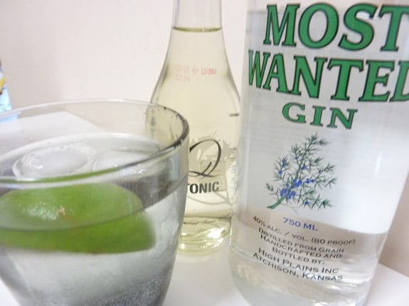 Most Wanted Gin and Q Tonic
