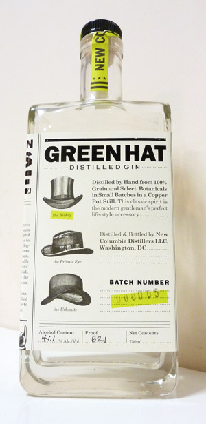 Green Hat Gin Bottle