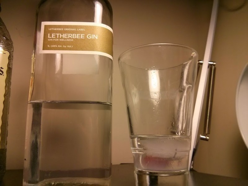 letherbee diluted with ice