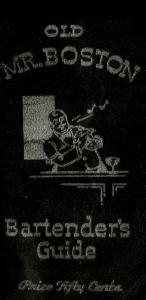 Old Mr Boston Bartender Guide Cover