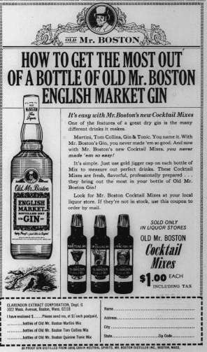 Old Mr. Boston English Market Gin, August 1964, Indianapolis Recorder