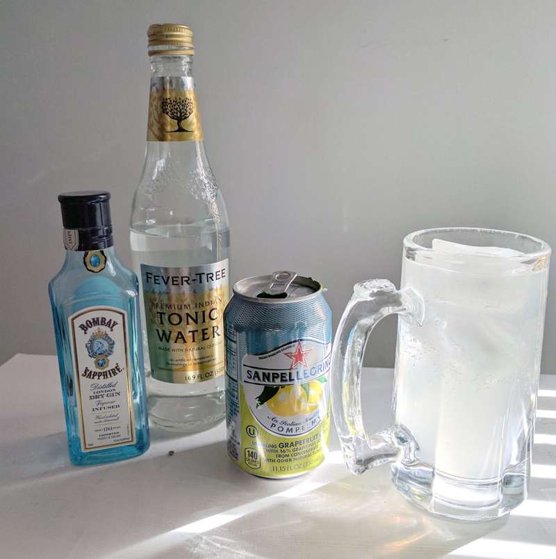 Finnish Long Drink with Pomplemo
