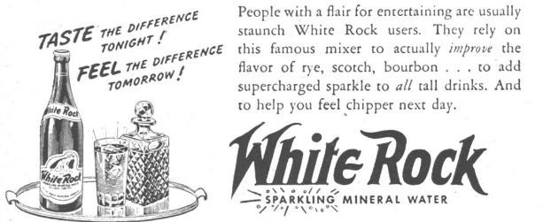 White Rock Mixer Advertisement