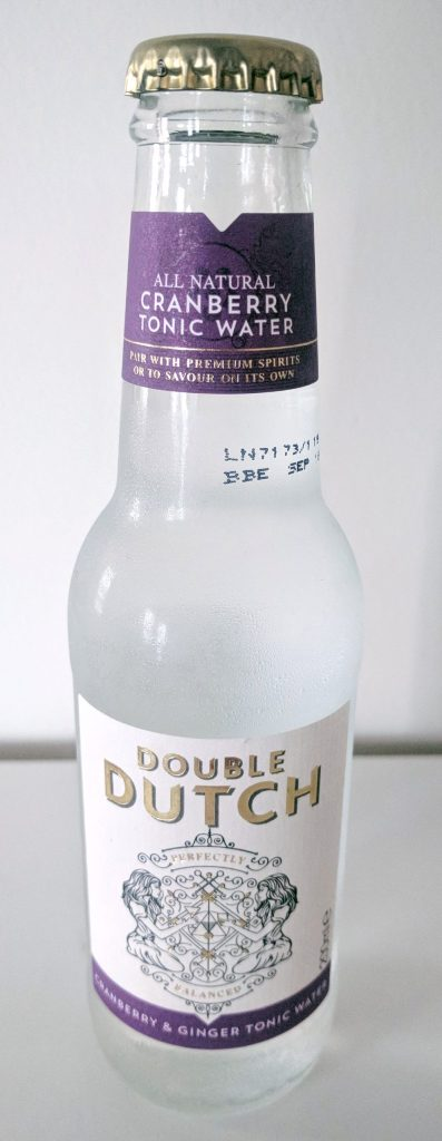 Double Dutch Cranberry and Ginger Tonic Water