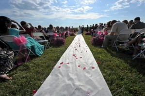 Outdoor wedding ceremony aisle - Photo credit Rick Bacmanski Photo Artistry