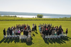 A wedding with a view - Photo credit Baker Photography