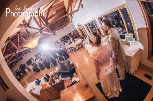 Couple being announced at reception – Photo credit Lee Speary Photography