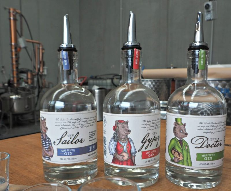 tiny bear distillery gins