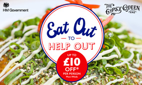 Eat Out to Help Out at the Gipsy Queen this August