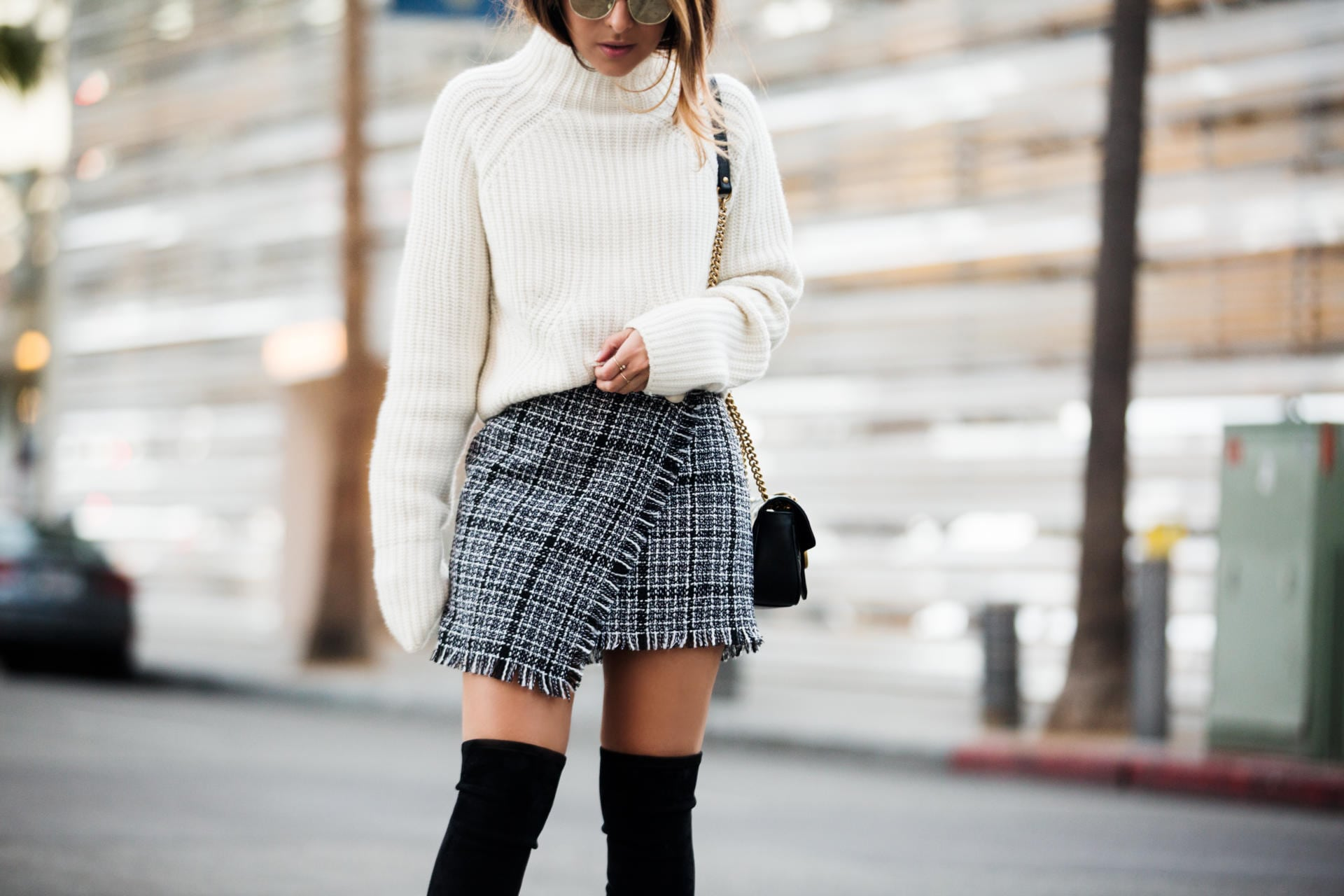 A Foolproof Way To Style A Tweed Skirt The Girl From Panama