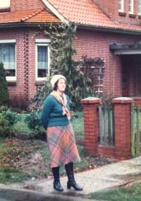 Me outside the living room side. I visited in 1982.