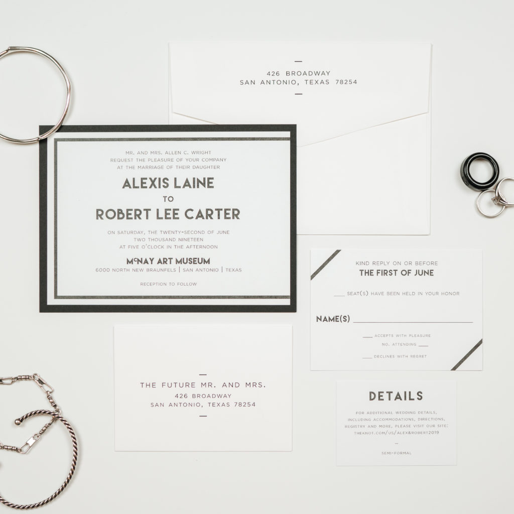 Modern Lemon Wedding Invitation Suite