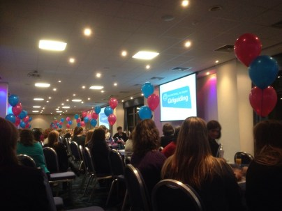 At Murrayfield Stadium for Girlguiding Edinburgh 'Thank You' event for volunteers.
