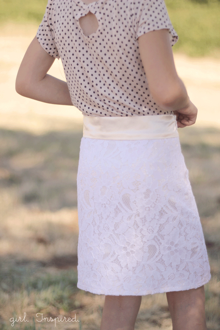 Lined Lace Skirt and invisible zipper tutorial