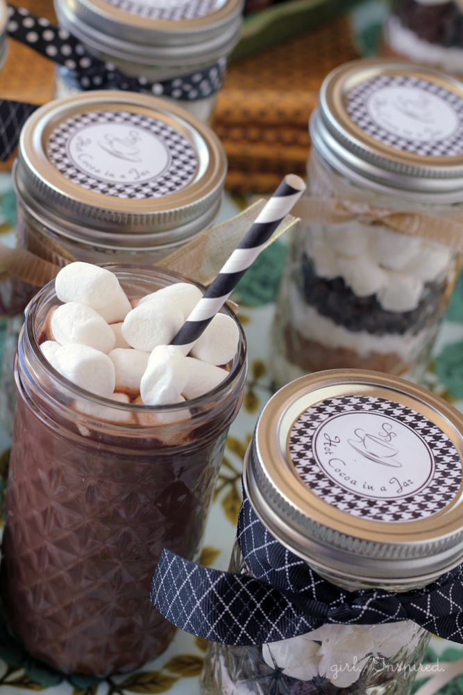 Hot Cocoa Printable Labels - free download