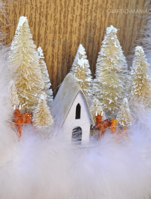 diy christmas winter wonderland wreath