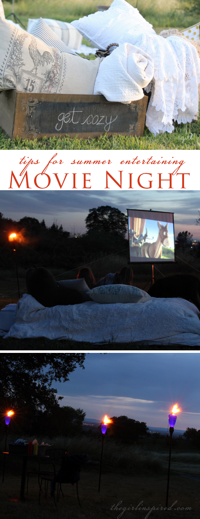 Outdoor Movie Night and seven secrets for summer entertaining