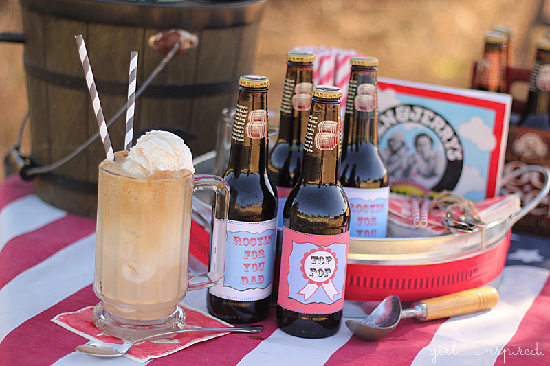 Root Beer Float Kit for Father's Day with printable labels
